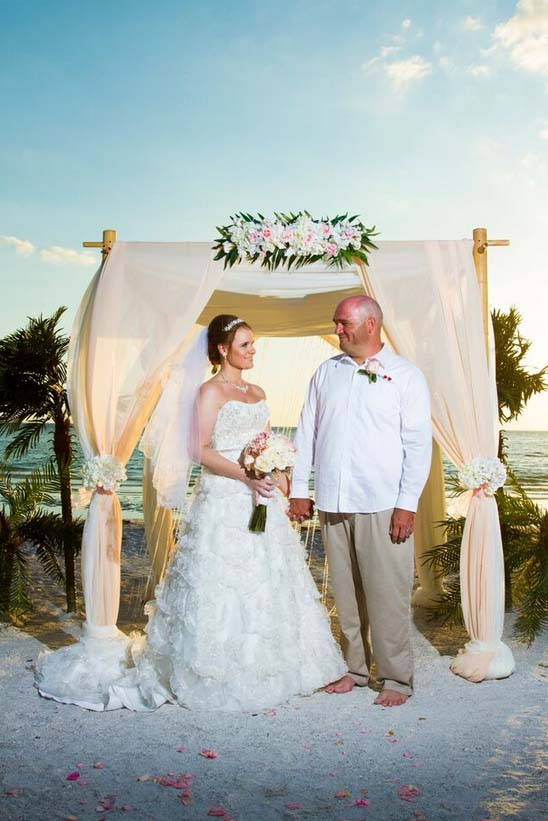 Crystal Blush Beach Wedding Suncoast Weddingssuncoast