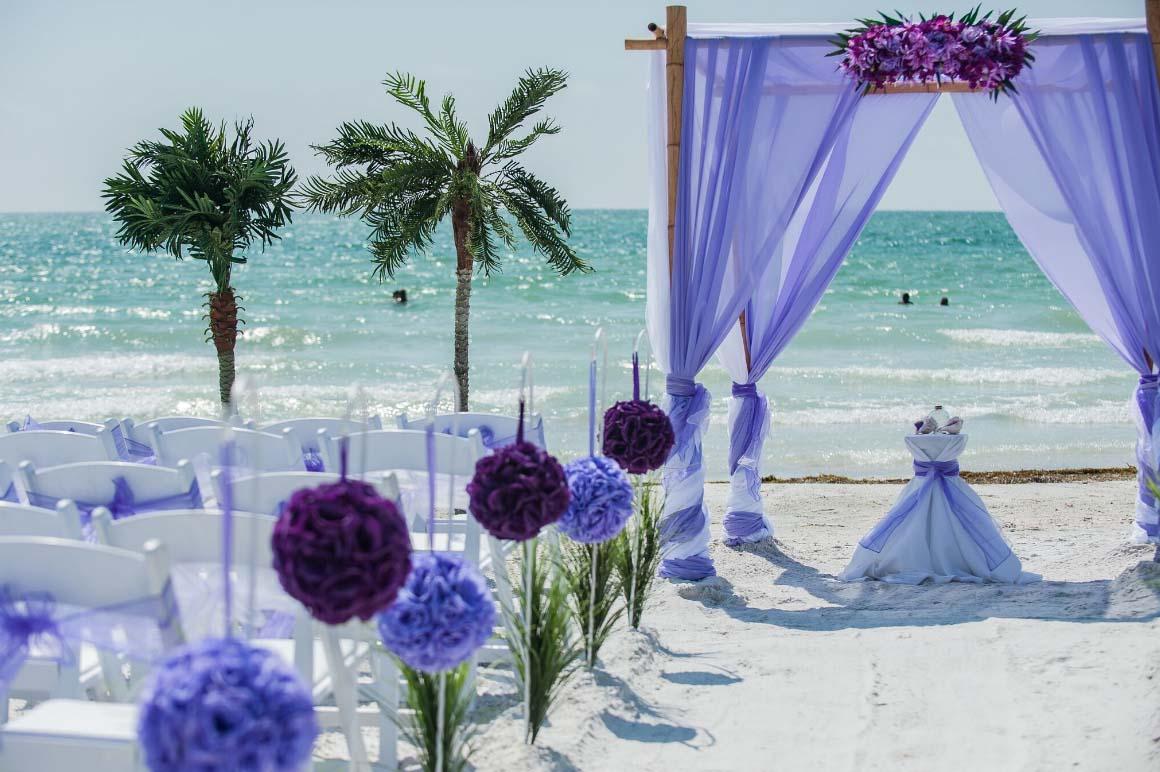 Florida beach wedding themes purple and lavendersuncoast for Seaside wedding theme ideas