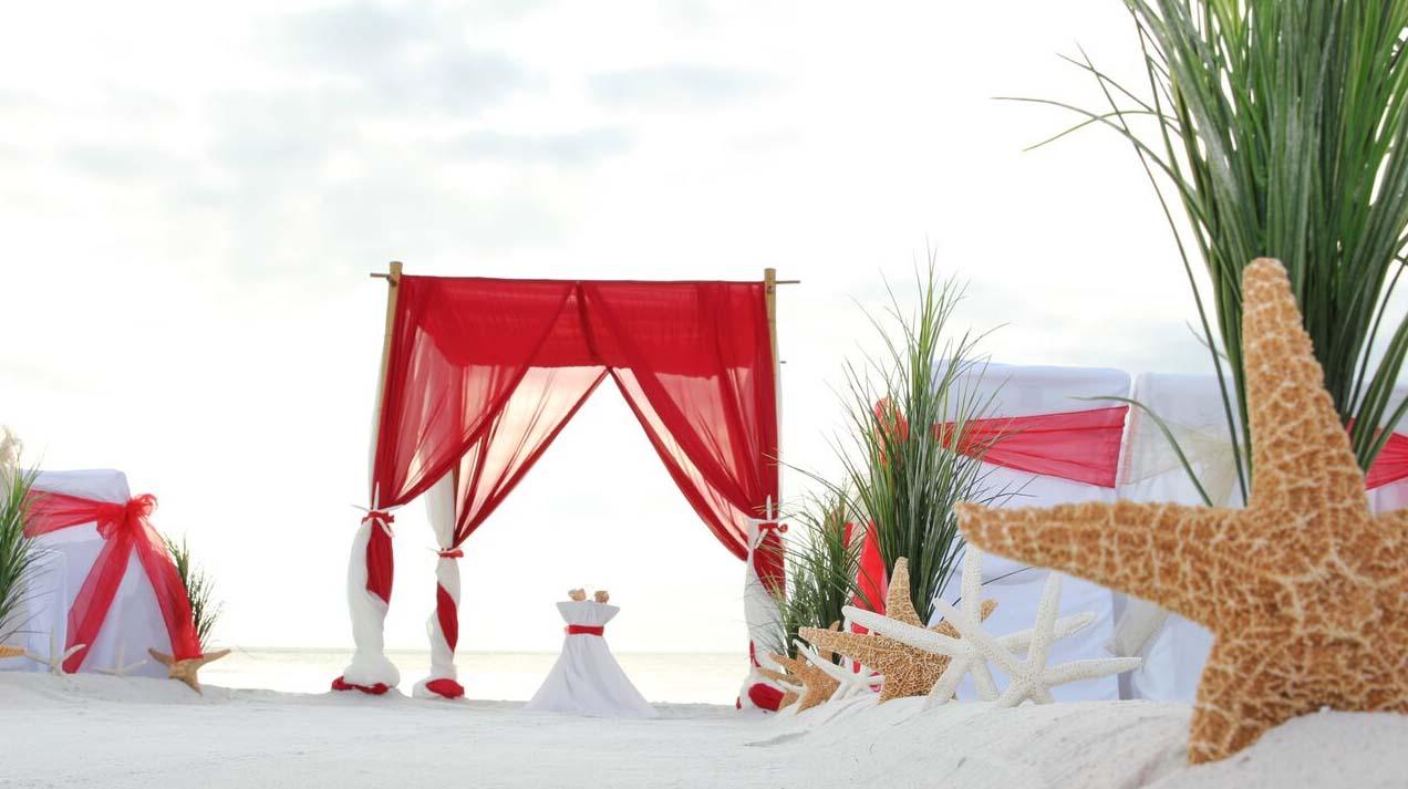Amazing Wedding With Red Theme Festooning - Wedding Dress ...