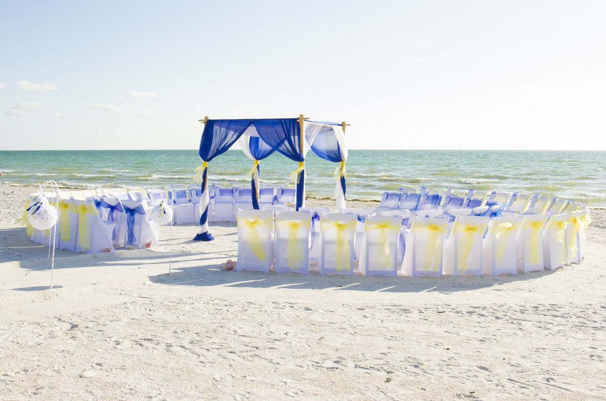Yellow Themed Florida Beach Weddingsuncoast Weddings