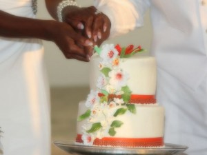 Florida beach wedding reception cakes