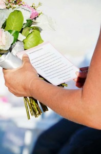 Florida beach wedding vows