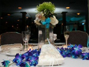 Florida beach wedding reception