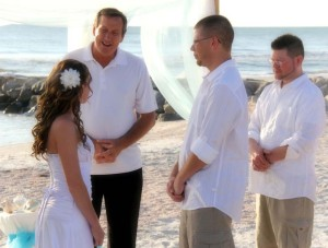 Florida beach wedding at Treasure Island