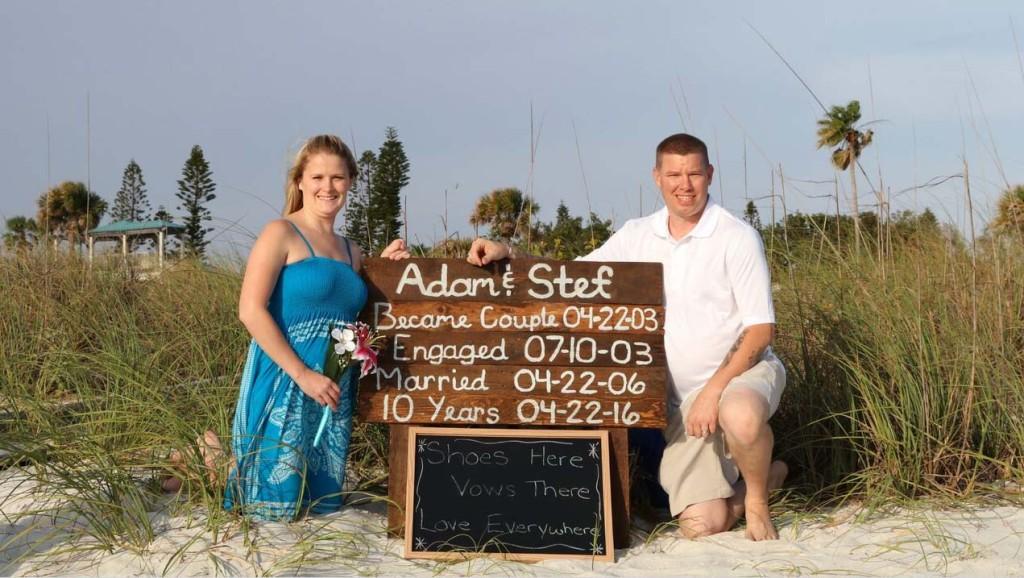 Florida beach vow renewals