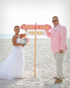 Clearwater beach wedding day
