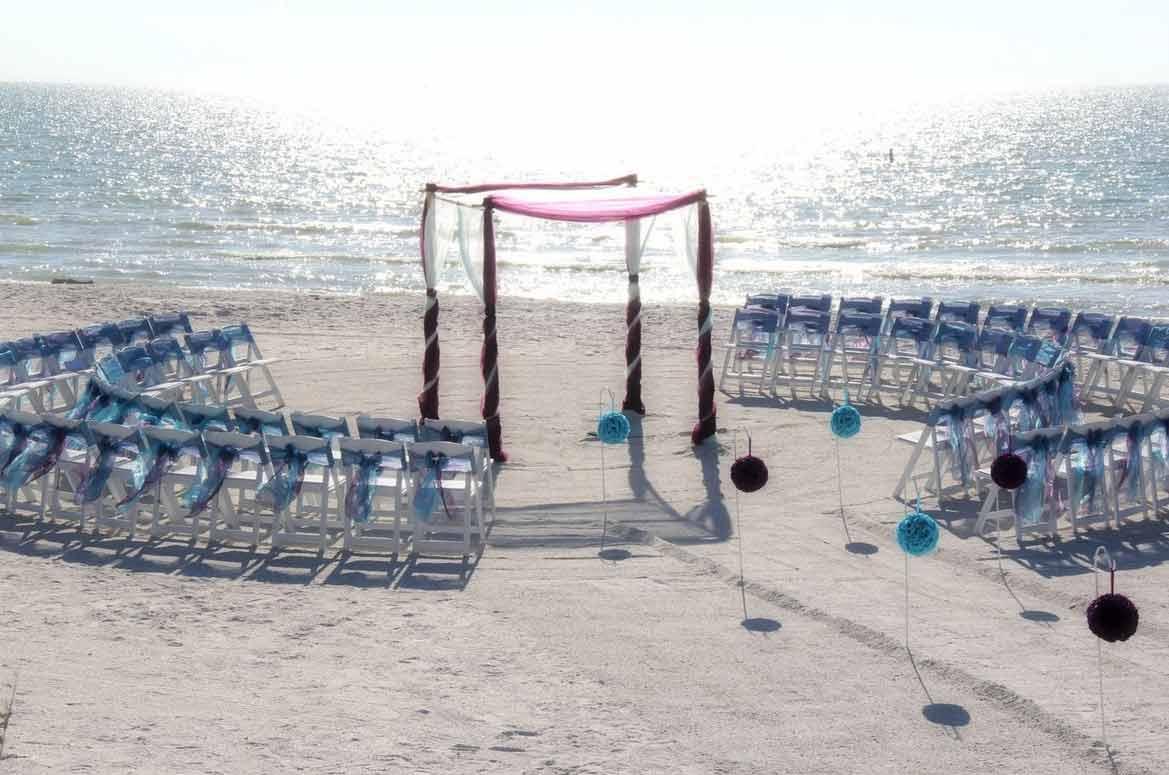 Florida Beach Wedding Aisle Style by Suncoast WeddingsSuncoast ...