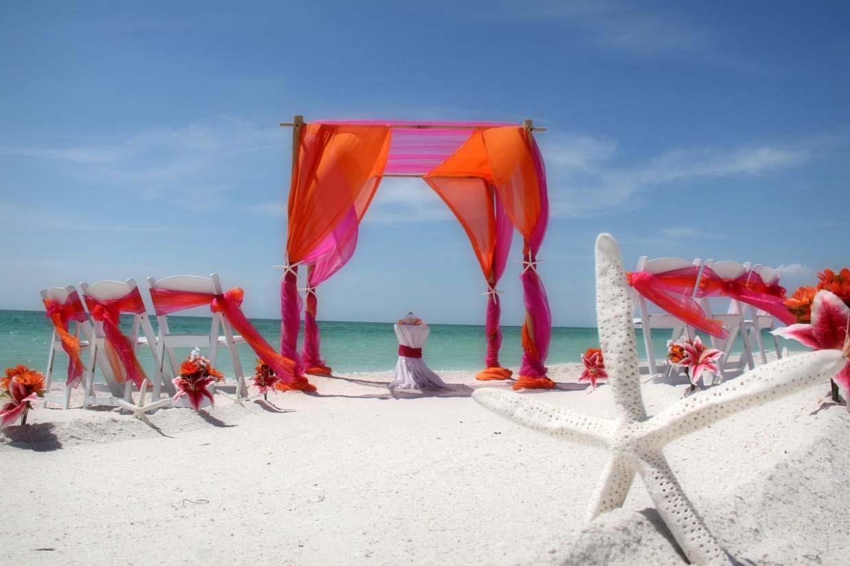 Orange And Fuschia Wedding By Suncoast Weddingssuncoast