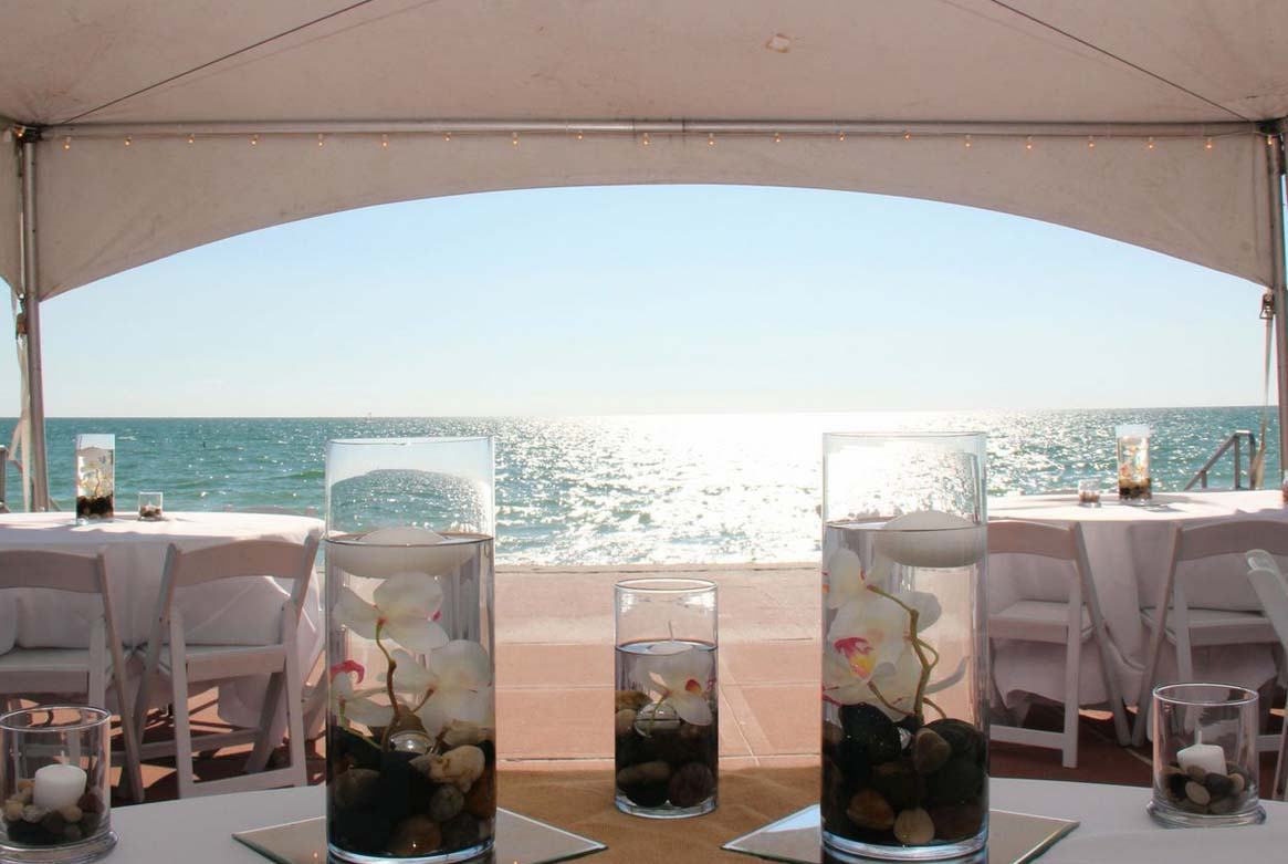 Wedding on the beach - Florida Beach Wedding Tent Reception In Pass A Grille