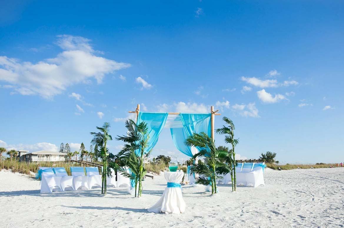 Inexpensive florida beach wedding