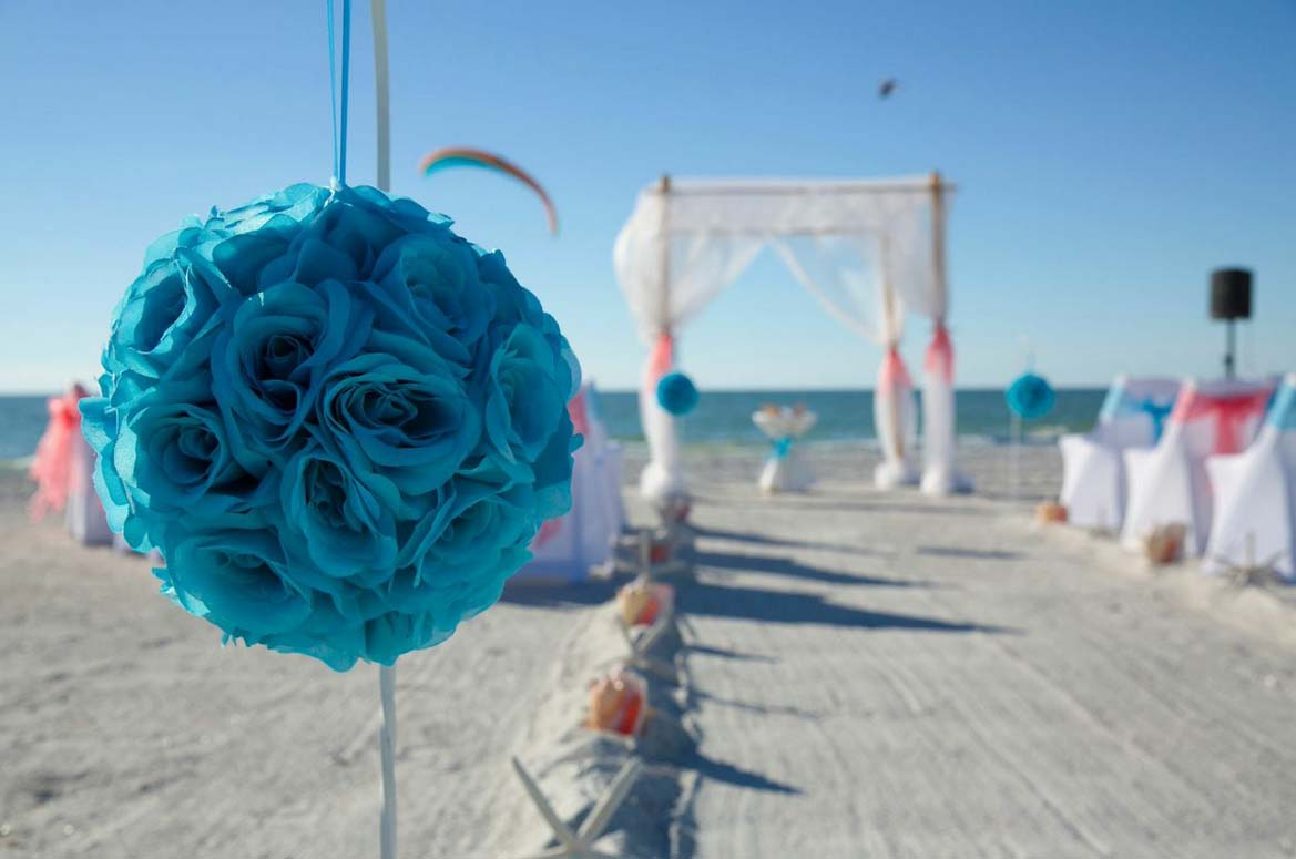 Coral And Turquoise Wedding: Florida Beach Wedding Day Style From Suncoast