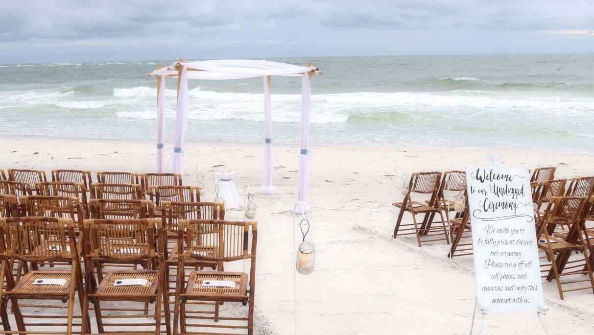 Florida Beach Wedding Chairs. Bamboo Chairs. $7.50 Each Plus Tax