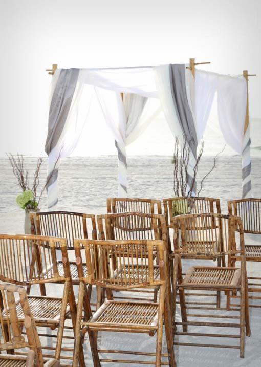 Florida Beach Wedding Chairs Bamboo 7 50 Each Plus Tax
