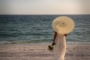 sunset beach parasol
