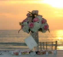 Beach weddings in Florida - our crystal blush theme