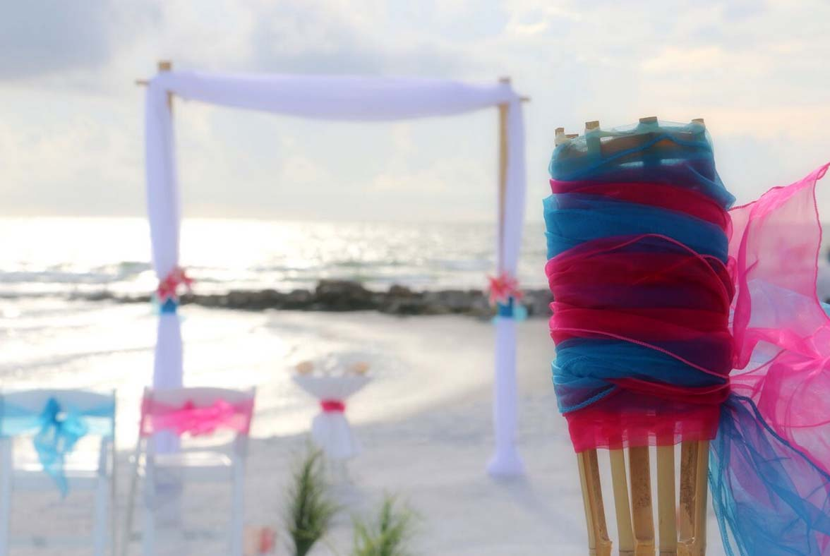 Florida Beach Weddings in Hot Pink and Cool BlueSuncoast Weddings