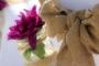 mason jars and burlap sashes