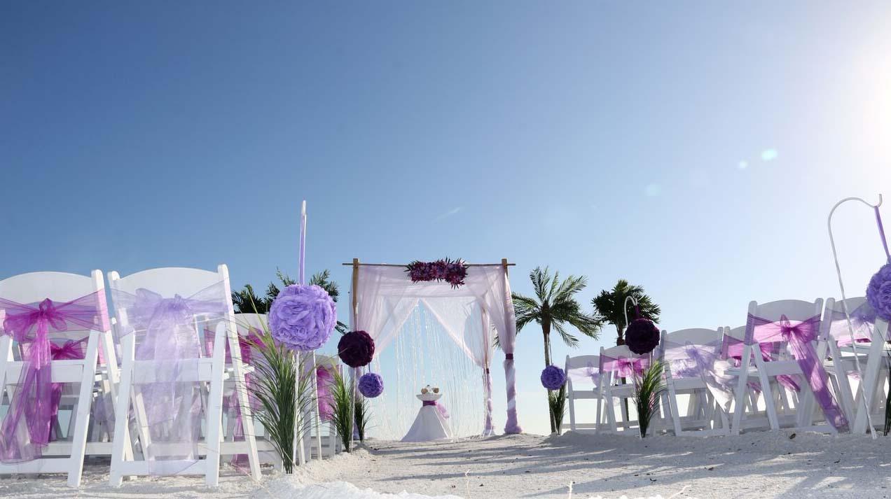 Florida Beach Wedding Themes - Purple and LavenderSuncoast ...