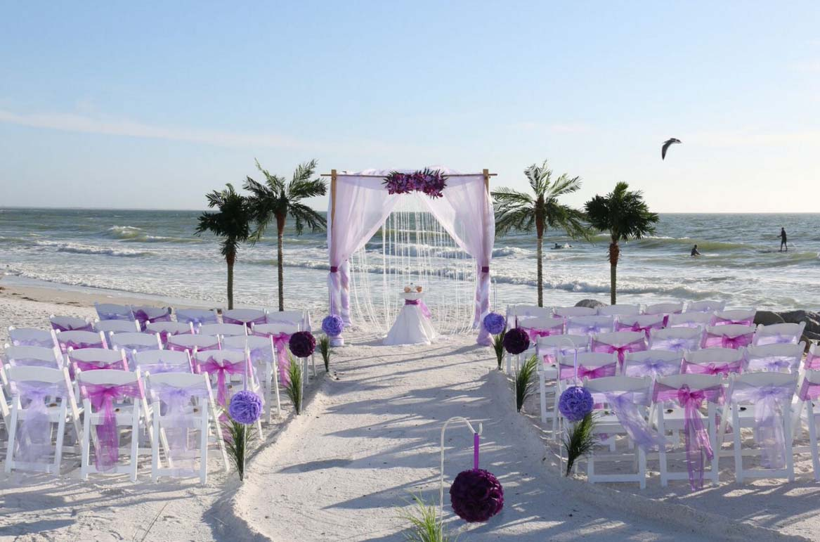 Florida Beach Wedding Themes Purple And Lavendersuncoast Weddings
