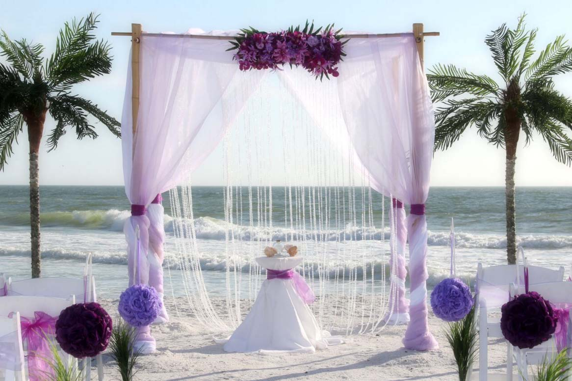 Florida Beach Wedding Themes - Purple and LavenderSuncoast Weddings