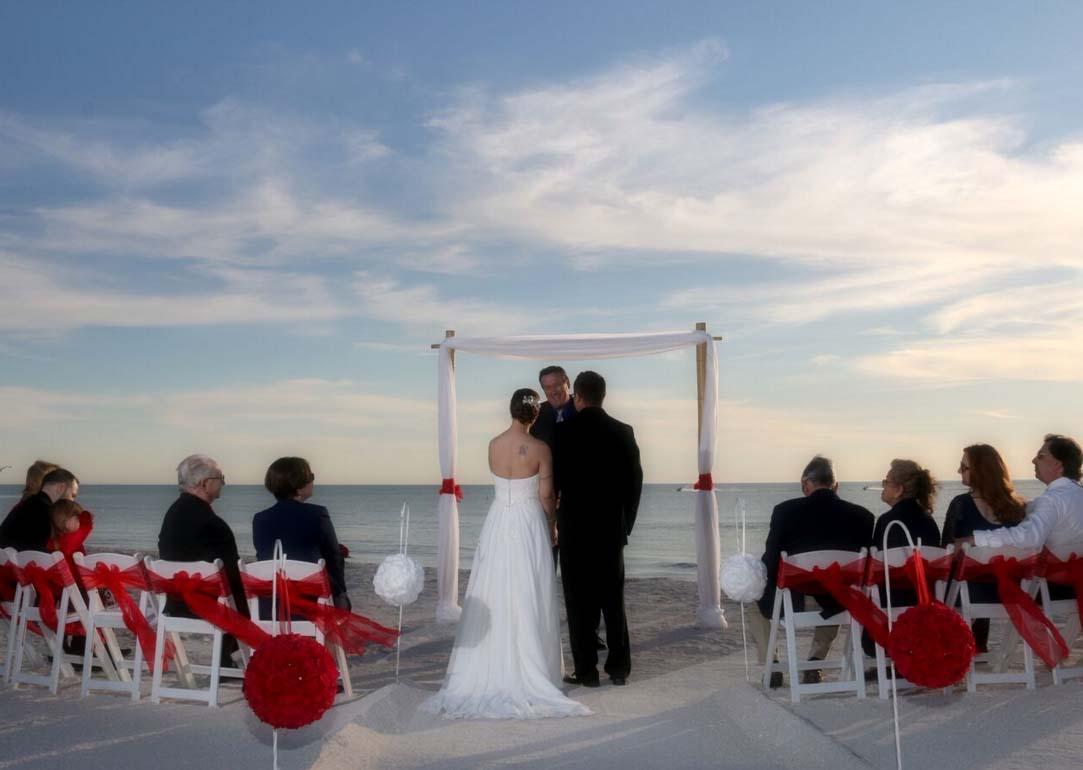 Florida Beach Wedding Themes Red Romance