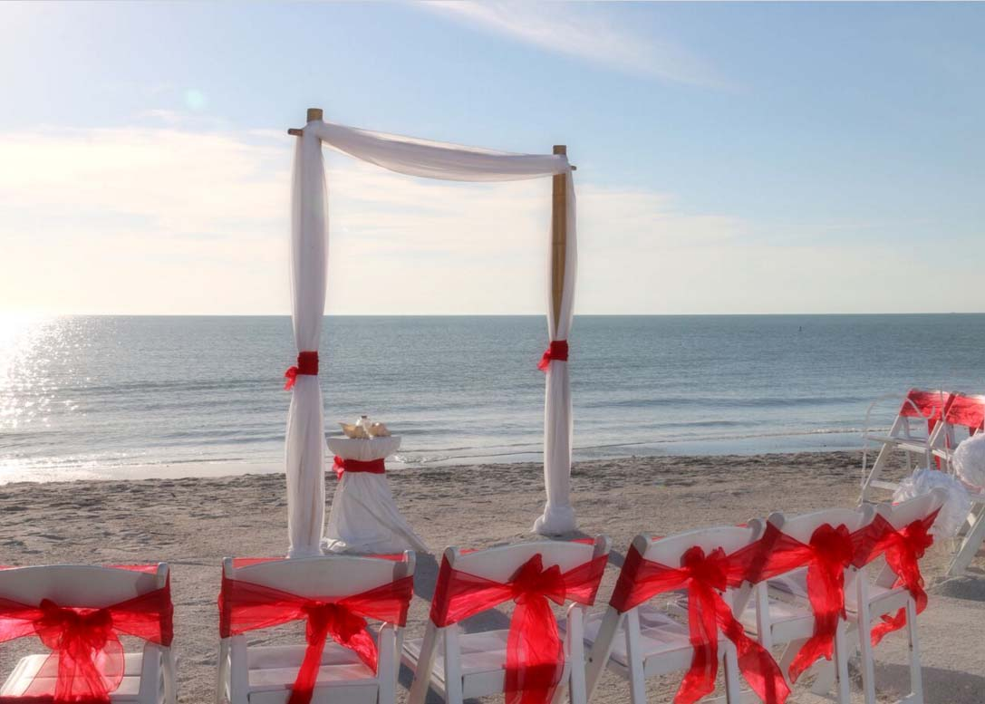 Florida Beach Wedding Themes Red Romance