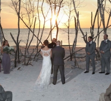Rustic Florida beach wedding