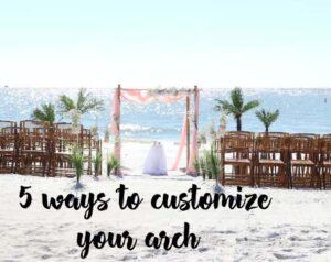 florida beach weddings - arches