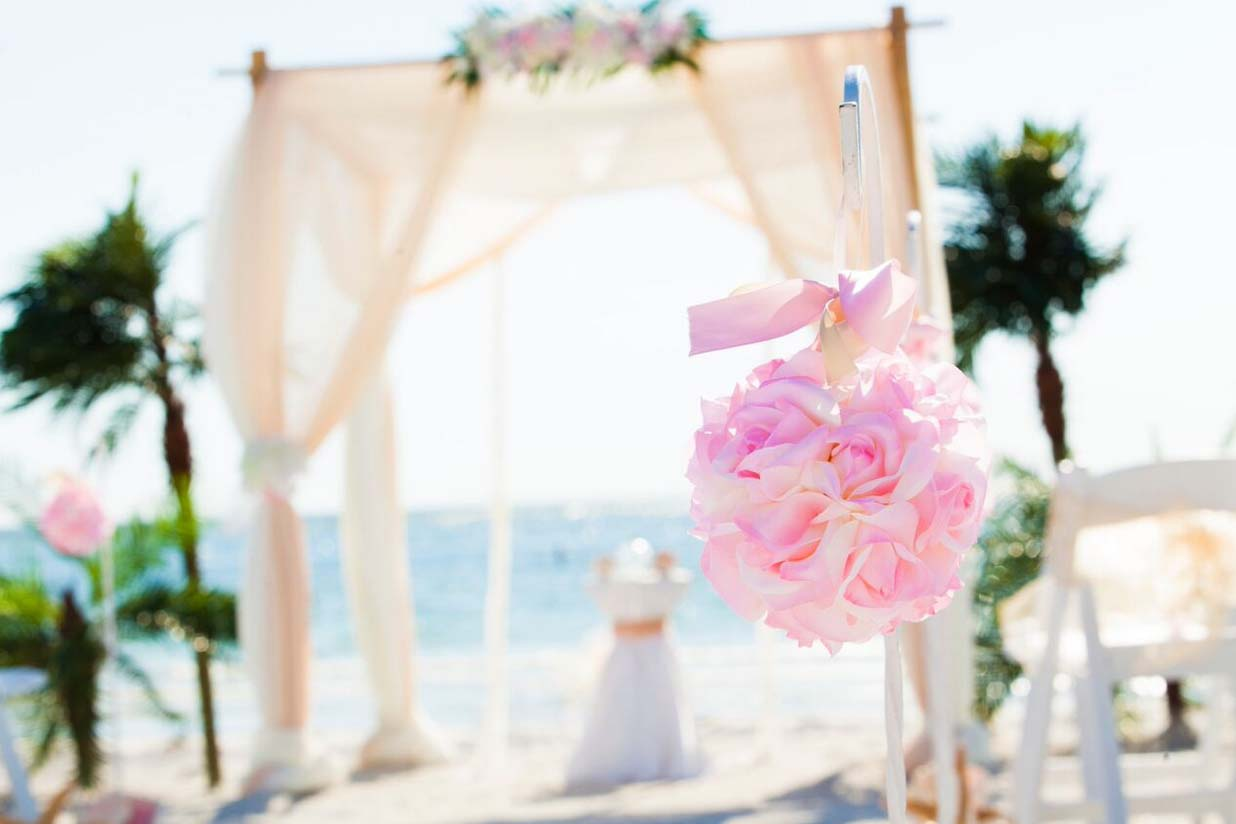 Florida Beach Wedding Aisle