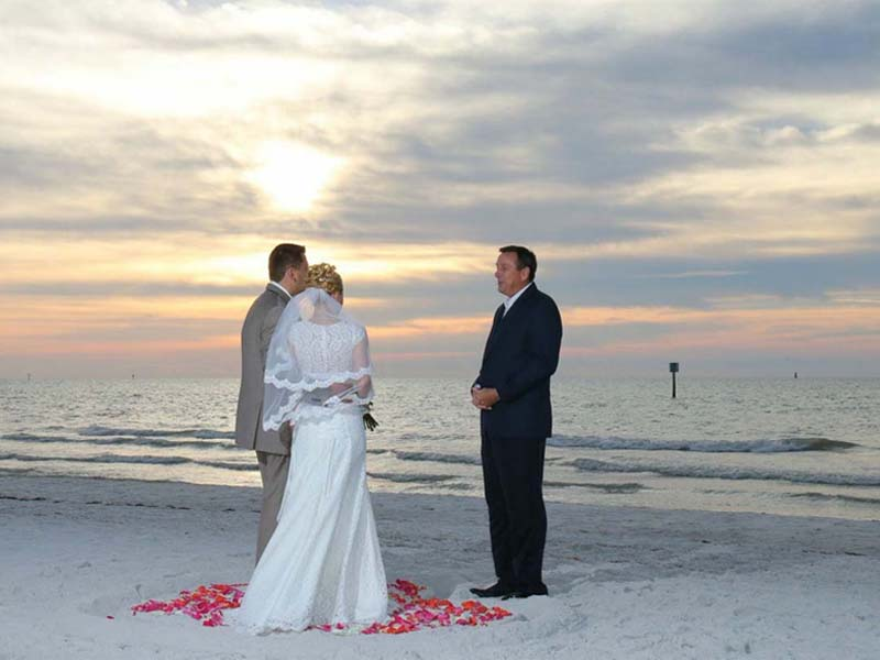 Florida beach wedding packages - Gulf Beach sunset