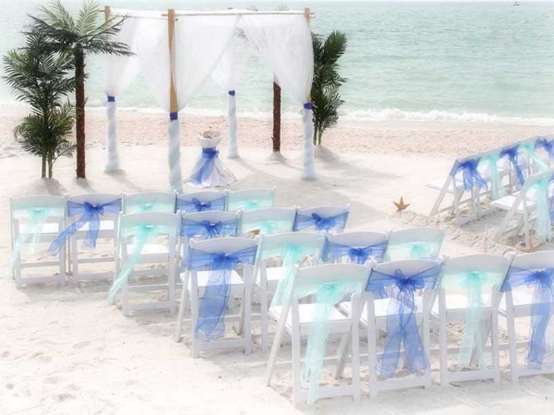 Florida beach wedding packages - Island Oasis in blues