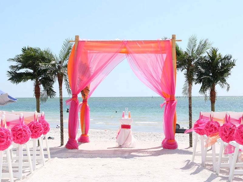 Florida beach wedding packages - Island Oasis package