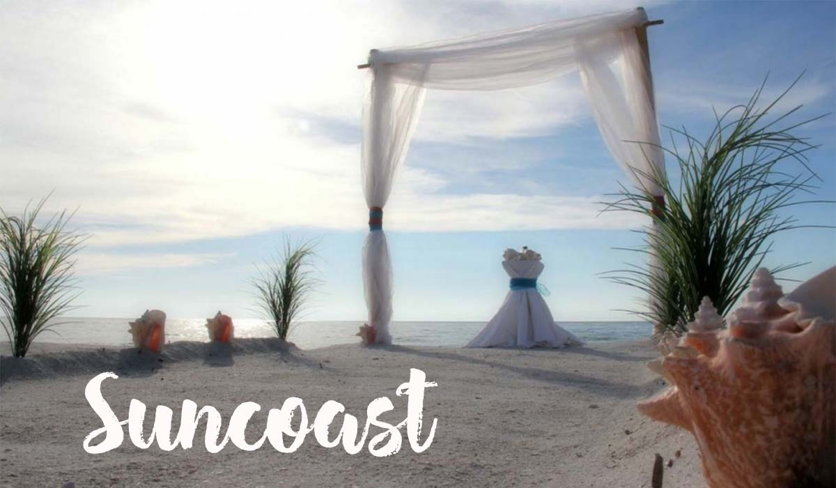 Florida beach wedding packages - Suncoast two post arch
