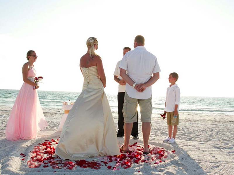 Florida beach wedding packages - Gulf Beach