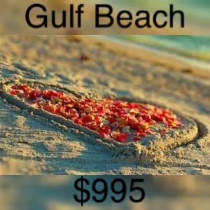s Gulf beach wedding package