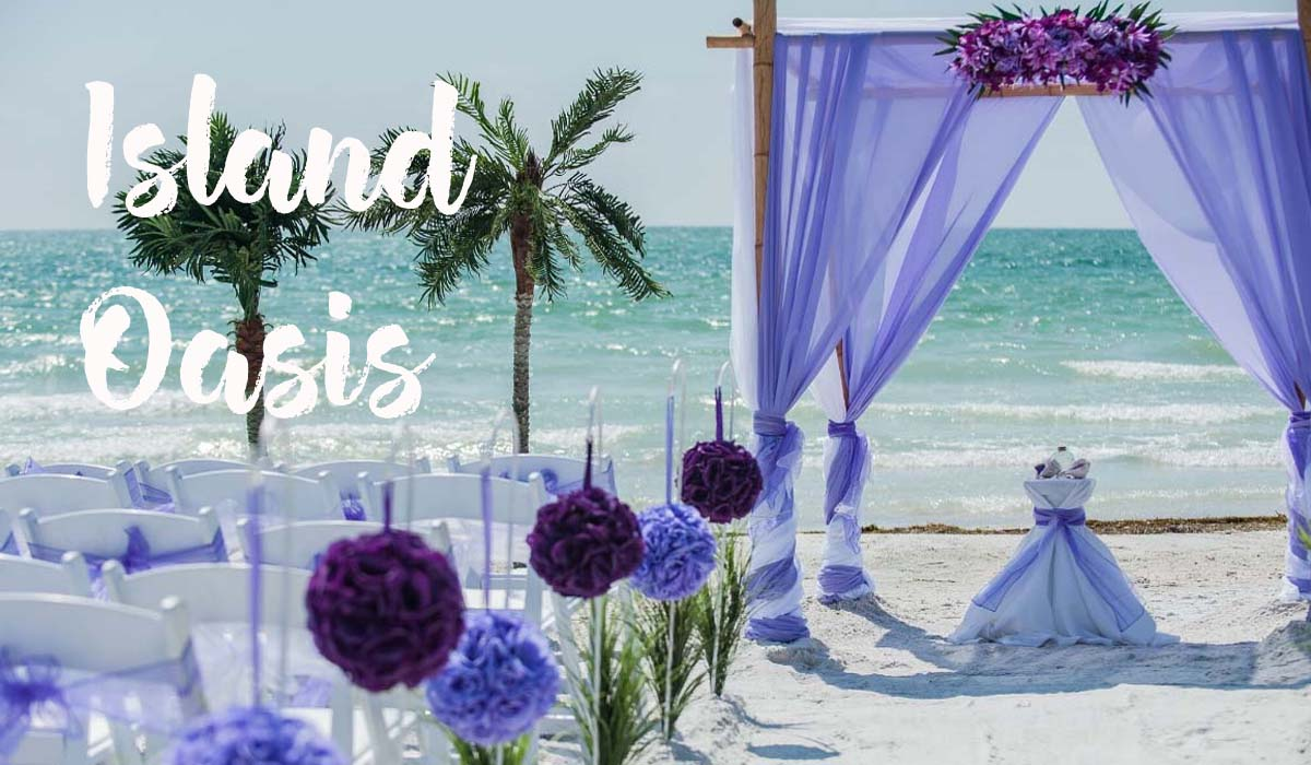 Florida beach wedding packages - Island Oasis