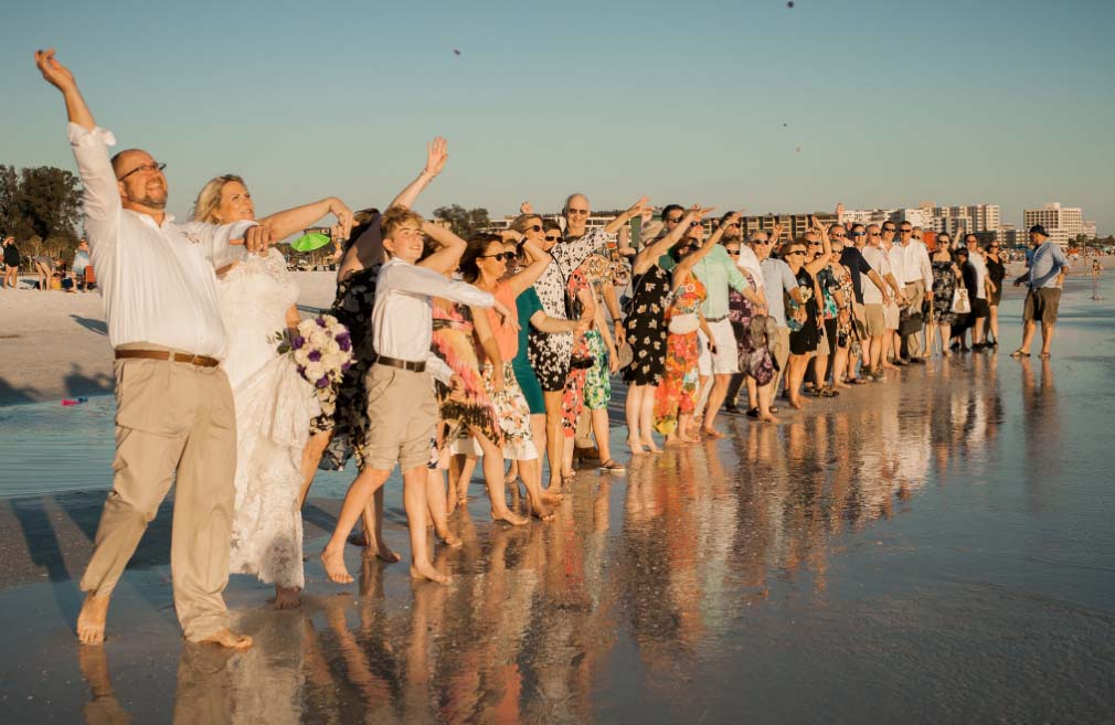 florida beach weddings blessing stones ceremony