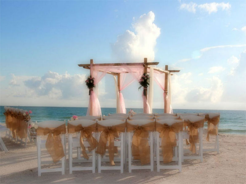 Sea shore ceremony at Suncoast Weddings