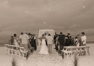 Florida beach wedding plans