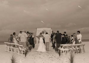 Florida beach wedding plans