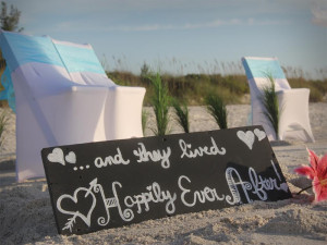 Florida beach wedding signs