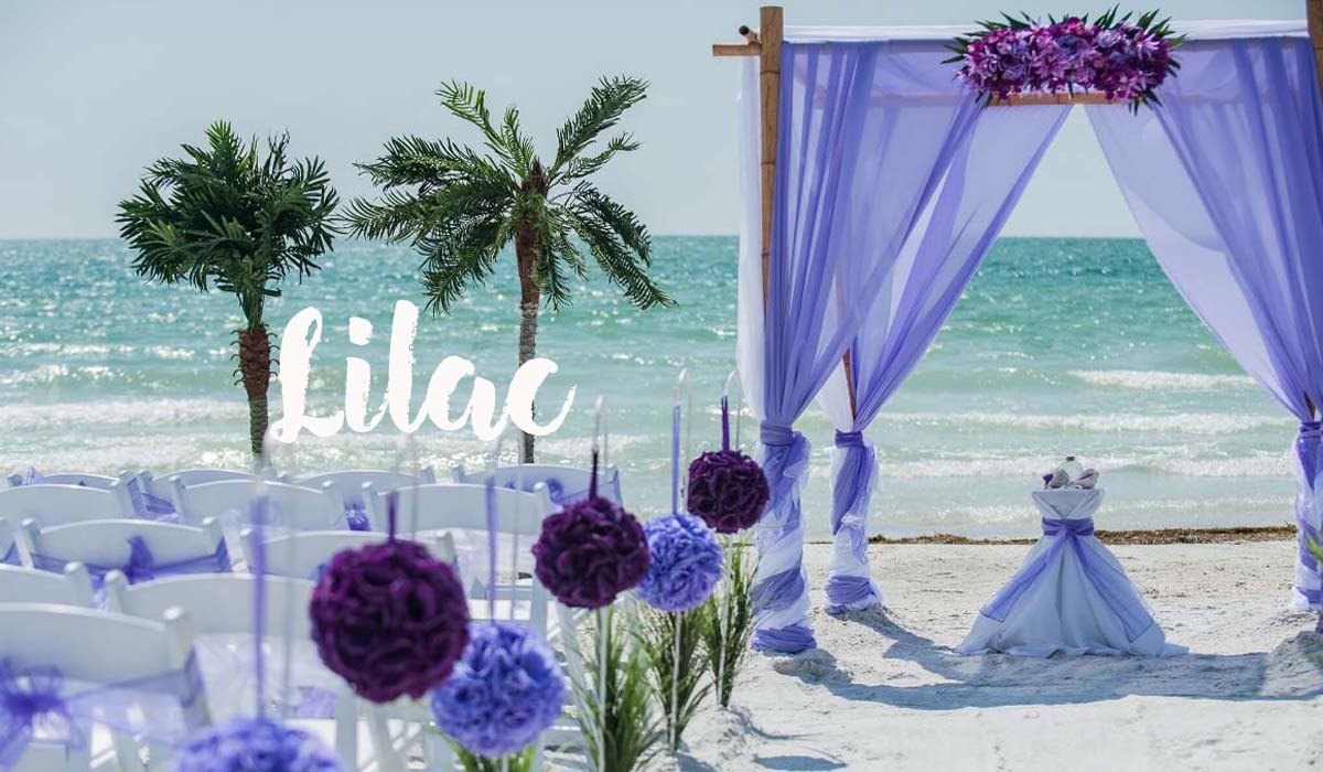 Beach wedding themes - Lilac