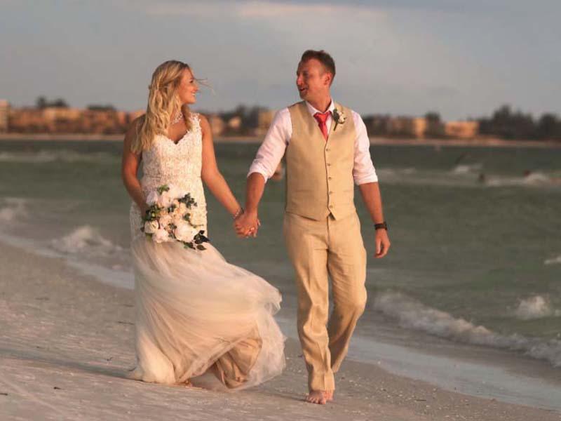 Siesta Key Beach weddings by Suncoast Weddings