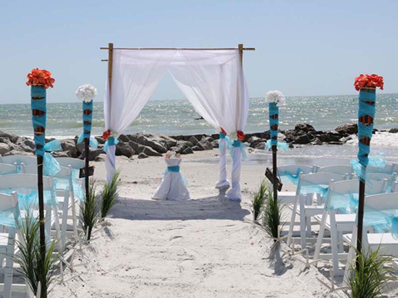 Florida beach wedding packages - Tropical package