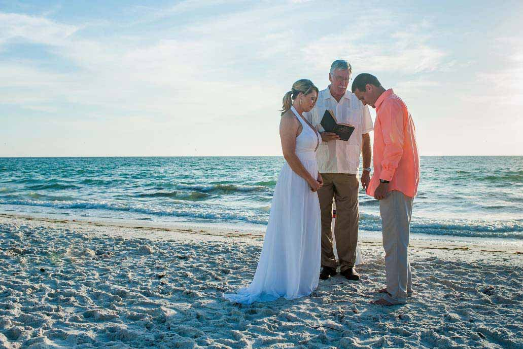 Florida beach weddings - toes in the sand package