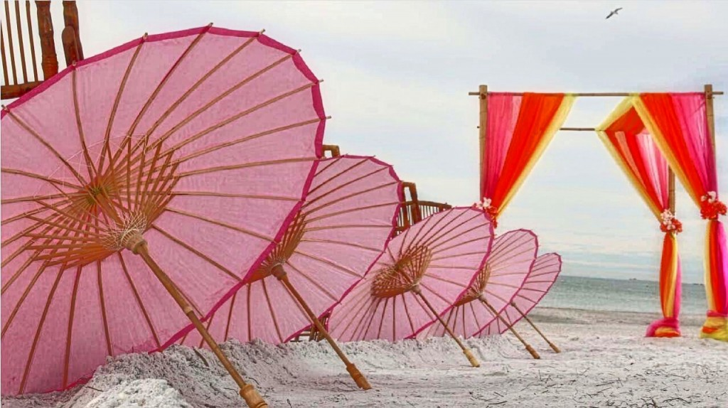 Rent parasols for a stylish look