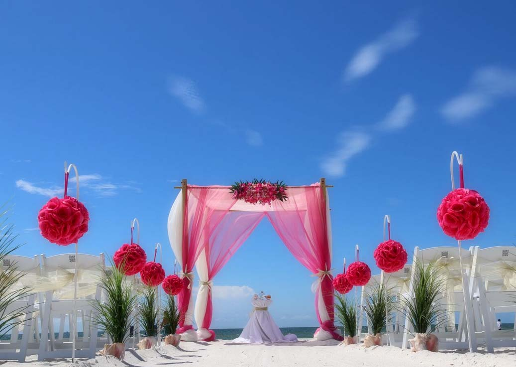 Florida Beach Wedding aisles