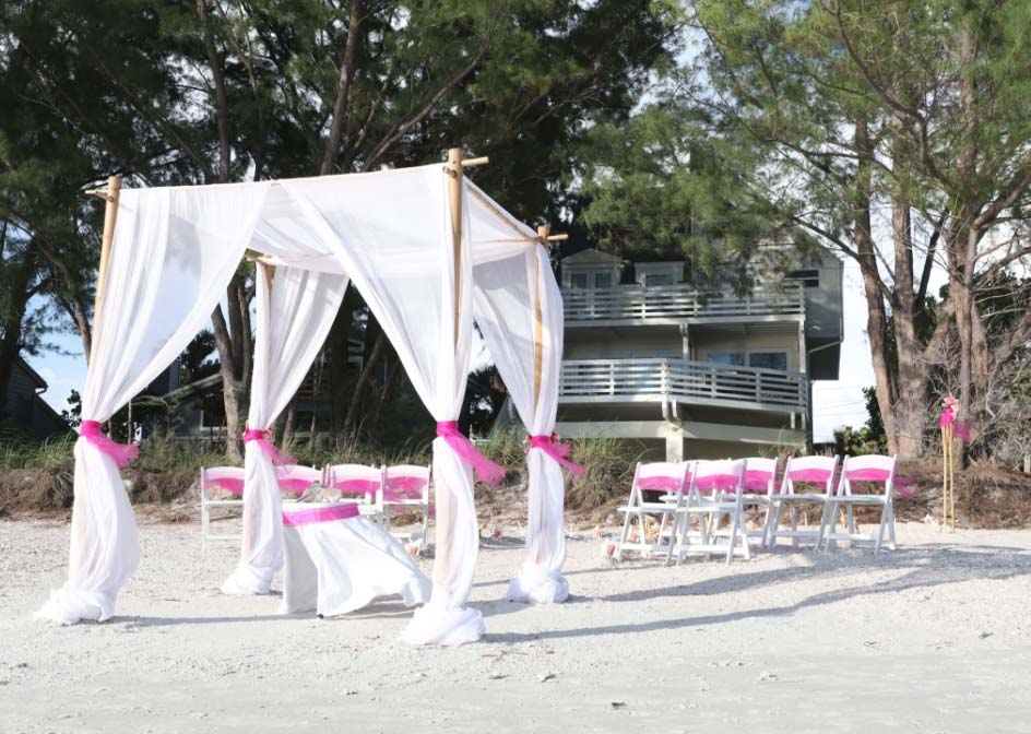 beach house wedding and reception