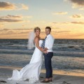 Catherine & David from Bolton, UK 10-16-14, married on Pass-a-Grille Beach