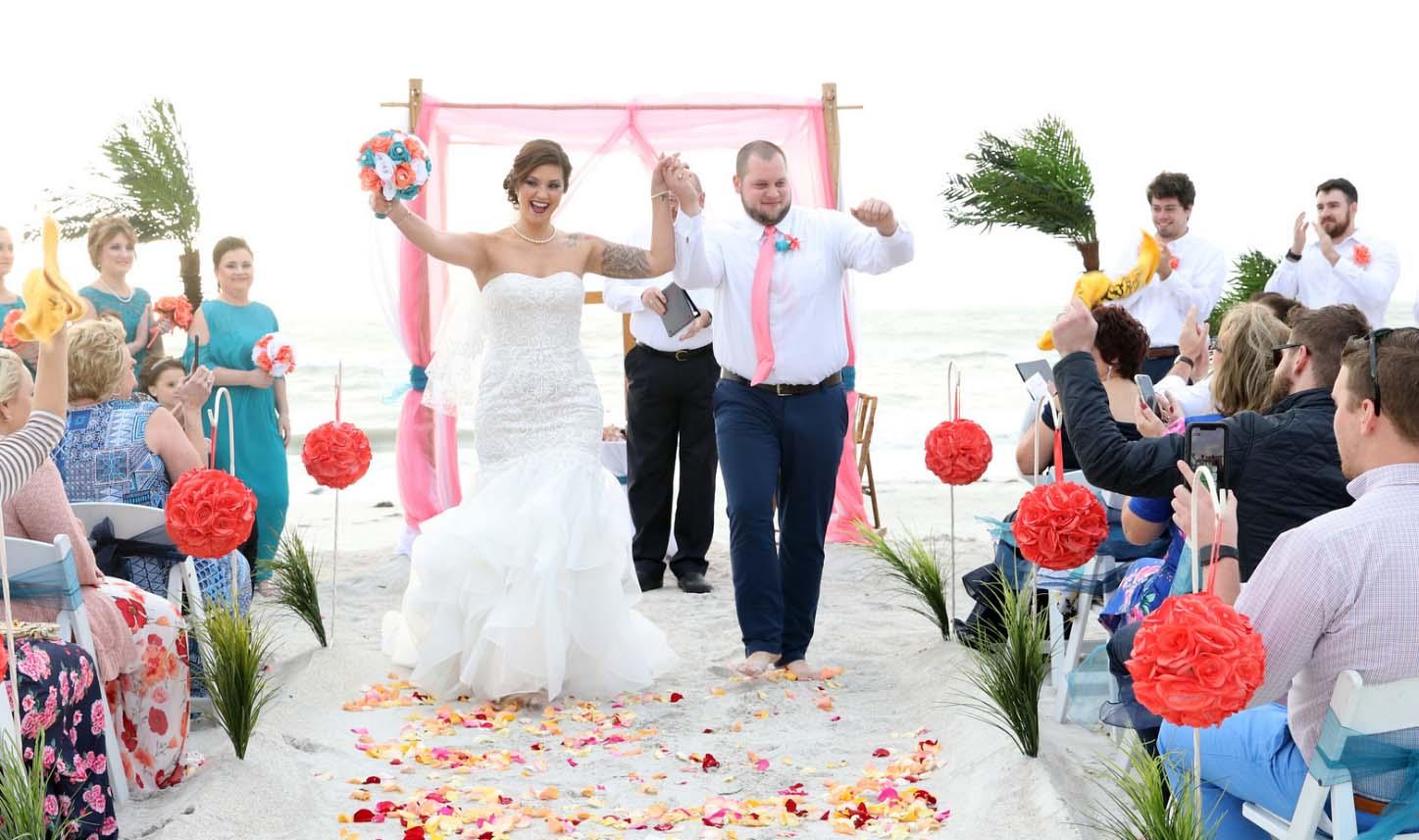 Florida beach weddings on Madeira Beach